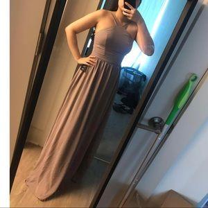 Lulus light purple halter maxi dress